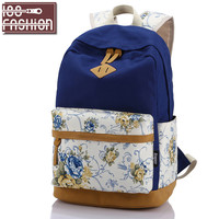 Fashion Backpack Women Canvas Rucksack School Bags for Teenagers Girls School Backpack Mochila Floral Printing Women Backpack