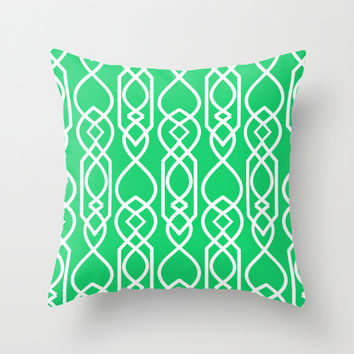 ON HOLIDAY- TIFFANY'S CLUTCH Throw Pillow by Rebecca Allen