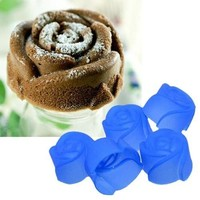 10X Nice Silicone Rose Muffin Cookie Cup Cake Baking Mold Chocolate Jelly Maker Mould SHY (Size: One Size) = 5658092929