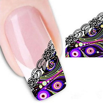 Water Transfer Printing Nail Stickers XF1321