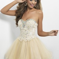 Blush Prom 9652 Strapless Lace Dress