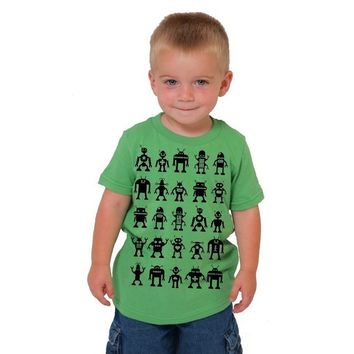 Robot Attack Toddler Kid Tee American Apparel