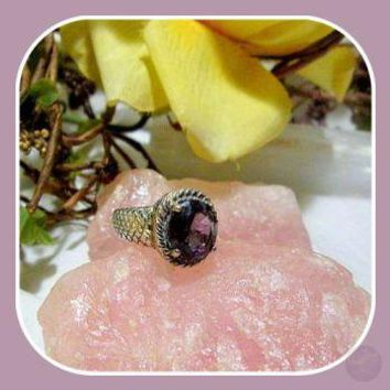 Ready For Success Amethyst Sterling Silver Ring Size 8