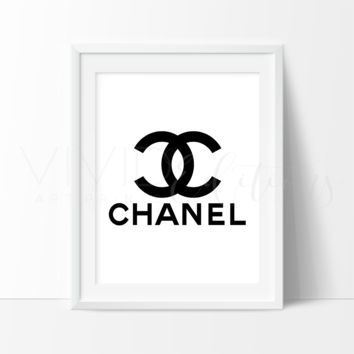 Coco Chanel Monogram 5 Watercolor Art Print