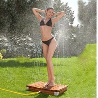 Magic Showerhead GS2000T TEAK Wooden Outdoor Lawn Garden Beach Shower