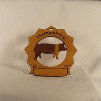 Hampshire Hog Standing Personalized Farm by gclasergraphics