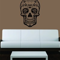 Sugar Skull Version 5 Decal Sticker Wall Vinyl Day of the Dead