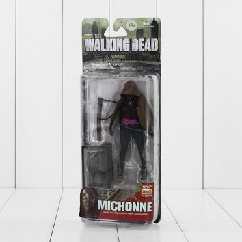"5"" 12cm NECA The Walking Dead Michonne Knife Figure Toy AMC TV Series PVC Action Figurine Model Collectible Gifts for KIds"