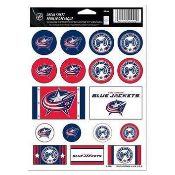 """Licensed Columbus Blue Jackets Official NHL 5"""" x 7"""" Decal Sticker Vinyl Sheet by Wincraft KO_19_1"""