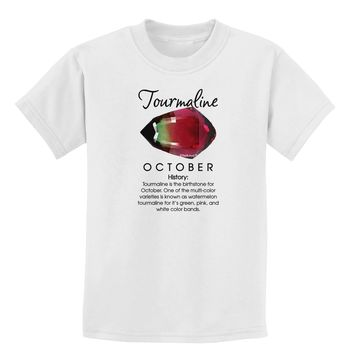 Birthstone Tourmaline Childrens T-Shirt by TooLoud