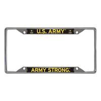 US Army Armed Forces Chrome License Plate Frame