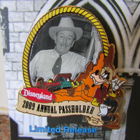 Disneyland Annual Passholder Limited Edition Pin - Thunder Mountain Railroad - Walt Disney
