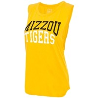 The Mizzou Store - Mizzou Tigers Juniors' Sun Yellow Muscle Tank