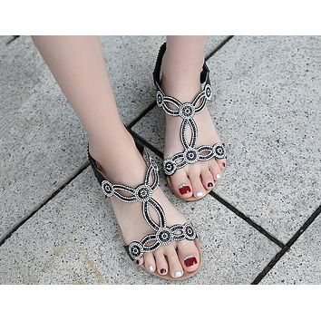 Hot Selling Fashion Water Drill Focusing on Large Size Foreign Trade Women's Shoes