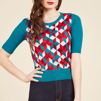 Tessellate It Be Known Knit Top | Mod Retro Vintage Sweaters | ModCloth.com