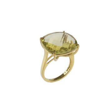 Jarin K Jewelry - Lemon Quartz Checkerboard Ring