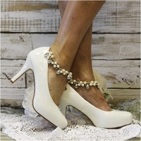 BEAUTIFUL - wedding ankle bracelet