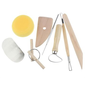 8Pcs/Set Wax Clay Pottery Shapers Carvers Polymer Clay Tools Sculpting Craft Hobby DIY Tools Suzie