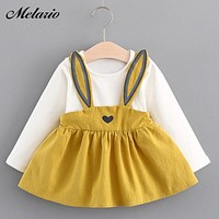 Melario Baby Dresses 2019 Summer New Baby Girls Clothes Lace Bow tie Mini A-Line Baby Princess Dress Cute Cotton Kids Clothing