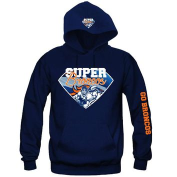 Super Broncos Hoodie Sports Clothing