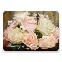 Beautiful Rose Bouquet Flower Wedding Invitations
