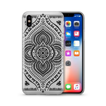 Black Opulent Mandala' - Clear Case Cover