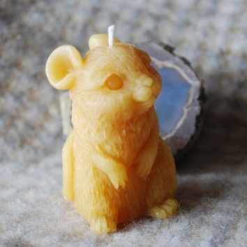 Pure Beeswax Mouse Candle