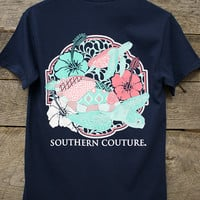 Classic Swimming Turtles Tee | Southern Couture