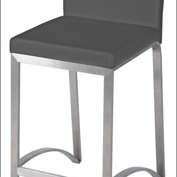 Edward KD Bar Stool Stainless Steel Frame, Gray