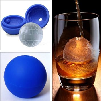 New Creative Silicone Blue Wars Death Star Ball Ice Cube Mold