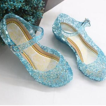 Elsa Jelly princess Flat Shoe