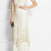 Sophia Kokosalaki - Bolina embroidered cotton-tulle dress