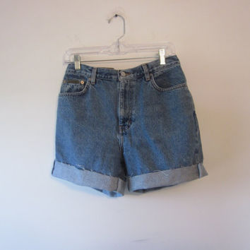 Calvin Klein High Waisted Denim Shorts Hipster Cut Off Stone Wash Jean Shorts Womens Size 10 High Waist Shorts 31