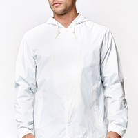 Quiksilver Hooded Coach's Jacket - Mens Jacket - White