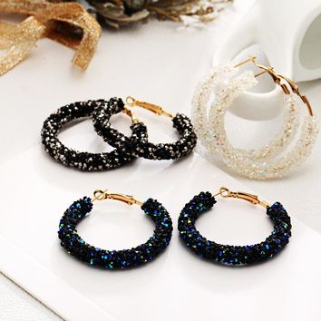 Fun-Tastic Crystal Hoop Earrings