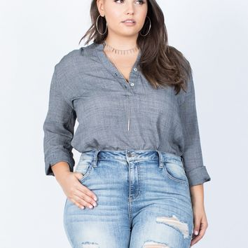 Plus Size Laid-Back Tunic