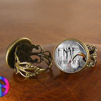 FNaF 5 Five Nights at Freddys (5) Game Anime Women Adjustable Ring Jewelry Gift