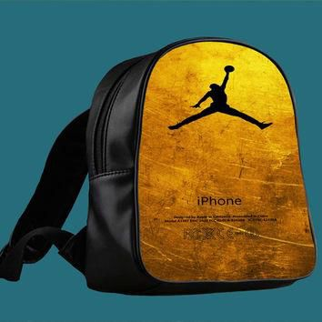 michael jordan golden gold pattern for Backpack / Custom Bag / School Bag / Children B