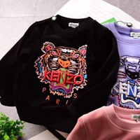 Kenzo Girls Boys Children Baby Toddler Kids Child Fashion Casual Top Sweater Pullover