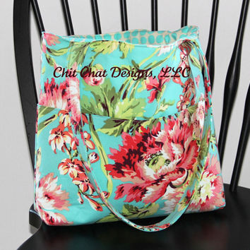 Tote Bag/Shoulder Bag Amy Butler's Bliss by chitchatdesignsllc