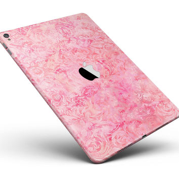 "Pink Damask v2 Watercolor Pattern Full Body Skin for the iPad Pro (12.9"" or 9.7"" available)"