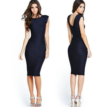 Sexy Ladies Celeb Short Sleeve Slim Fashion Bodycon Party Cocktail Evening Dress = 1931884548
