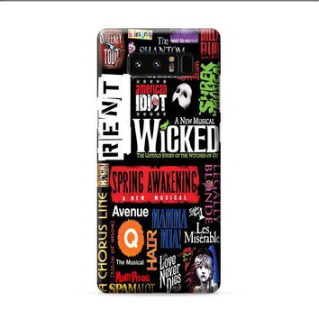 Broadway Musical Collage Poster Samsung Galaxy Note 8 case