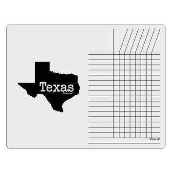 Texas - United States Shape Chore List Grid Dry Erase Board by TooLoud