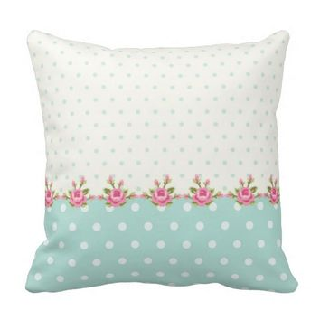 shabby chic,country,coral,green,cute,pink,girly, throw pillows