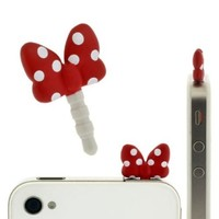 Plug Apli Disney Character Earphone Jack Accessory (Minnie Mouse/Ribbon)