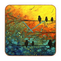 Madart Inc. Birds Of A Feather Custom Clock