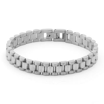 The White Gold Rolex Watch Link 10MM Stainless Steel Bracelet