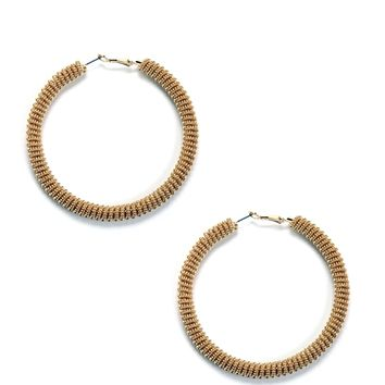 Gold Coil Hoop Earrings