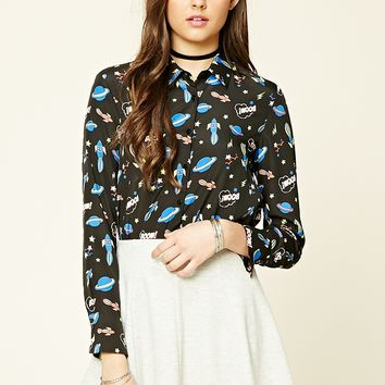Contemporary Space Print Shirt